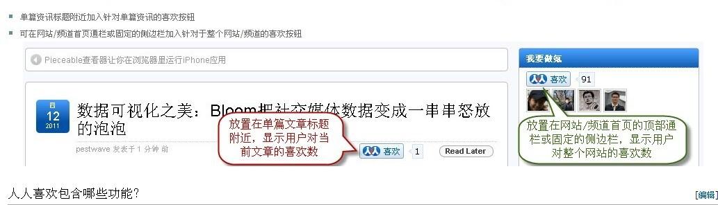 """《为wordpress添加""""人人喜欢""""按钮》"""