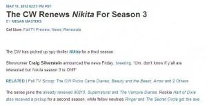 《Nikita:尼基塔第三季 尼基塔(Nikita)获得第三季预订 Nikita第三季来了》